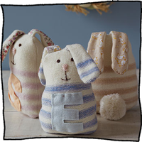 Stripy Rabbit by Laura Long